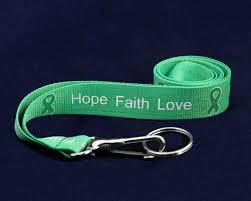 Green Ribbon awareness lanyards
