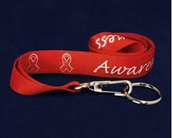 Red Ribbon custom awareness lanyards