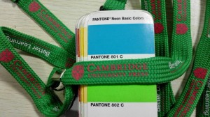 The lanyard's color doesn't match Pantone