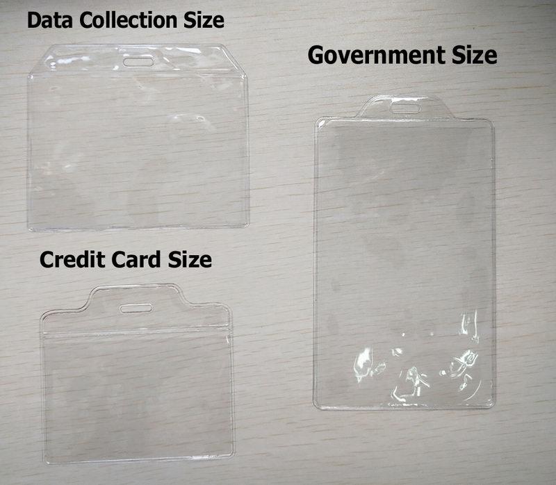 badge holder size
