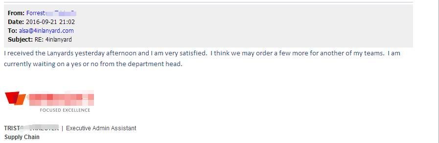 lanyard customers feedback